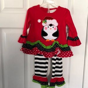 Girls holiday /Christmas outfit size 2t NWT